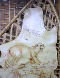 革彫刻画「クーガー」.JPG
