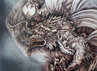 革彫刻画「竜」.JPG